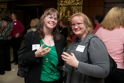 Joy Picknarcik Calapai, left and Margaret Gilboy, right, both class of 1992