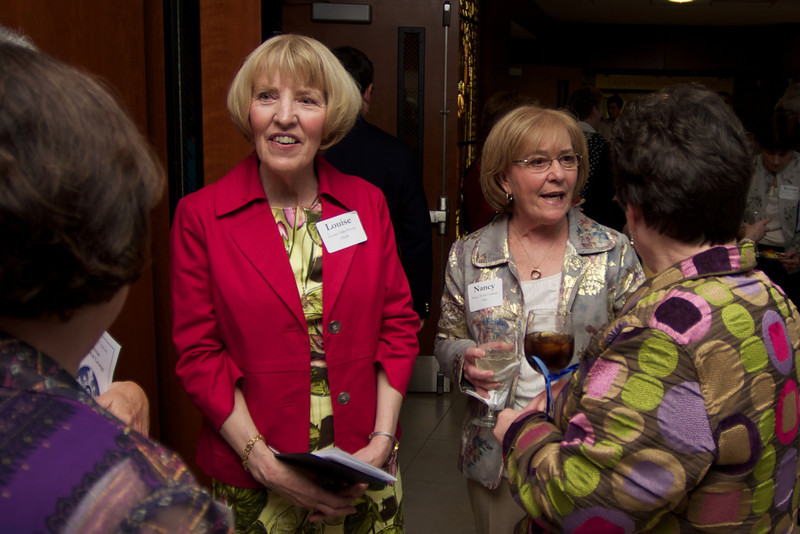 Maryellen Keenan Mastriani, , far left, Louise Gillis Potvin, left and Nancy Doyle, right, all of the Class of 1962.
