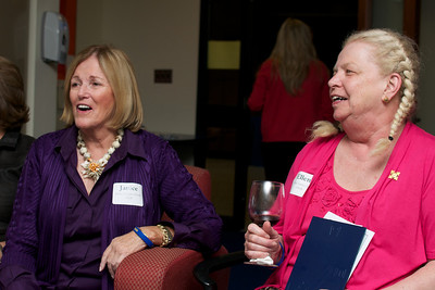 Janice Gallagher Norris, left, and Ellen LAwler Ugi, right, of the Class of 1962