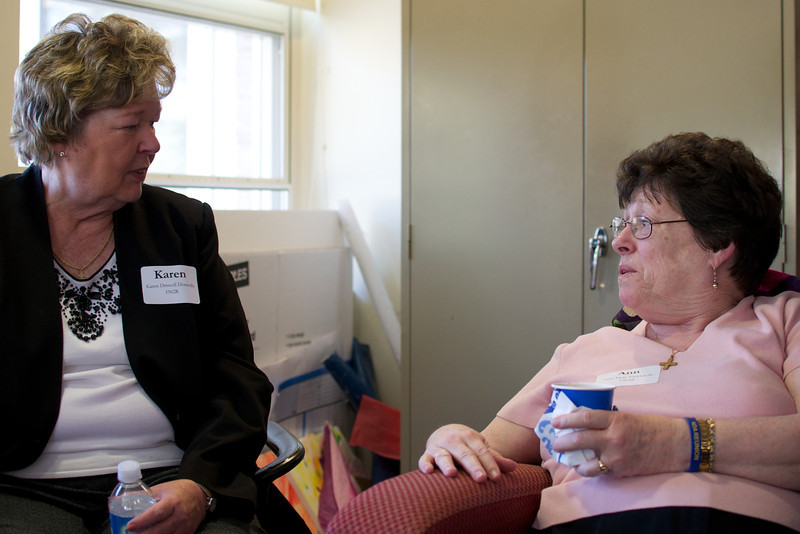 Karen Driscoll Donnelly, left and Ann Daly, both Class of 1962