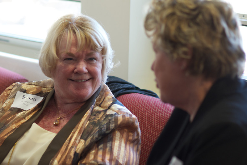 Susan Lewis and Karen Driscoll Donnelly, right, all of the Class of 1962