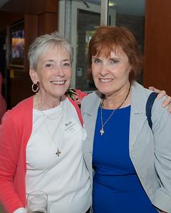 Hingham, MA -  Elizabeth Ballantyne Mullen, left, Marilyn O'Leary Gregory, right, Class of 1963. Photo by Ryan Hutton