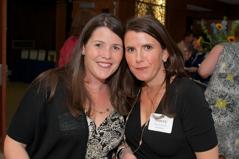 Hingham, MA -  Stacey Dwyer Houlihan, right, Class of 1993. Photo by Ryan Hutton