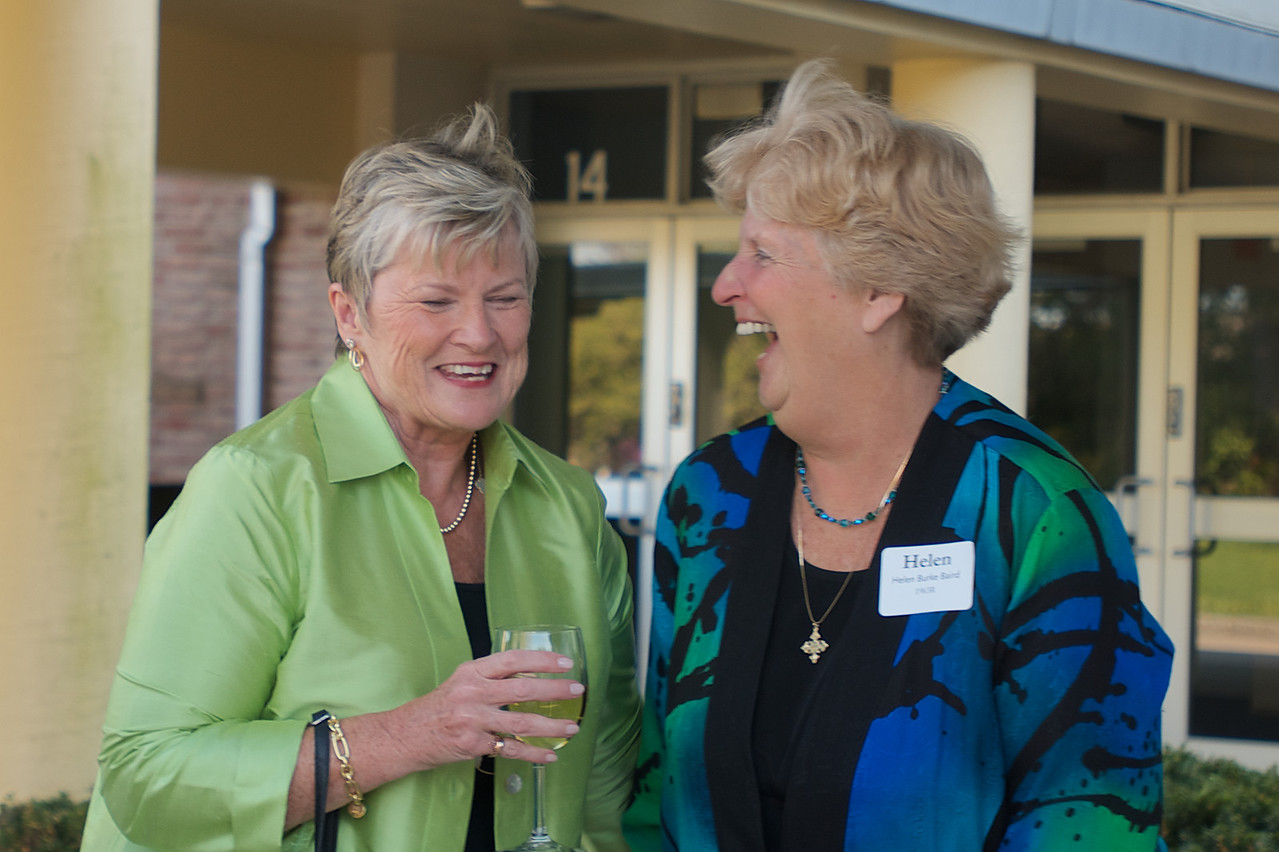 Hingham, MA -  Helen Burke Baird, right, Class of 1963. Photo by Ryan Hutton