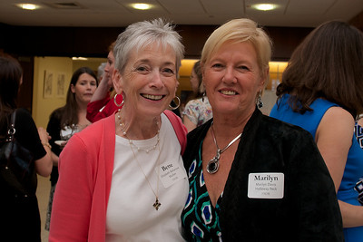 Hingham, MA -  Elizabeth Ballantyne Mullen, left, Marilyn Davis Holloway Peck, right, Class of 1963. Photo by Ryan Hutton