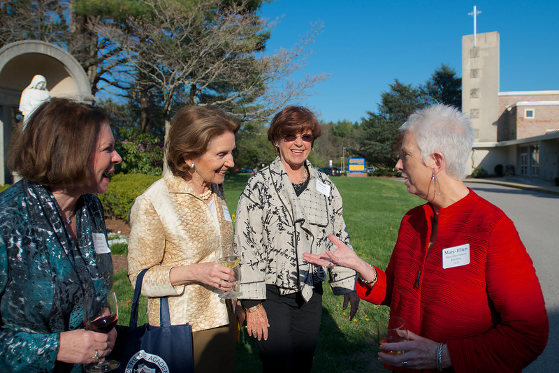 Hingham, MA - From left, Diane Cudd Capodilupo, Kathleen Torsney Young, Susan Brennan, and Mary-Ellen Hyland Batchelor, Class of 1963. Photo by Ryan Hutton