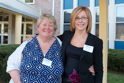 Hingham, MA -  Paula Walsh Gartland, left, Diane Cashman Campbell, right, Class of 1963. Photo by Ryan Hutton