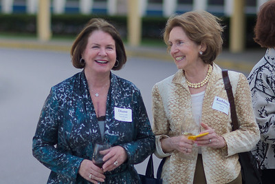Hingham, MA - Diane Cudd Capodilupo, left, and Kathleen Torsney Young, right, both Class of 1963. Photo by Ryan Hutton