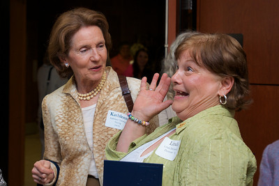 Hingham, MA -  Kathleen Torsney Young, left, Linda DeGaetano Donovan, right, Class of 1963. Photo by Ryan Hutton