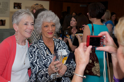 Hingham, MA - Elizabeth Ballantyne Mullen, right, Angela Capucci, right, Class of 1963.  Photo by Ryan Hutton