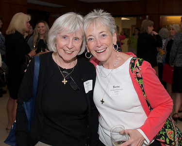 Hingham, MA -  Suasn Abbott, left, Elizabeth Ballantyne Mullen, right, Class of 1963. Photo by Ryan Hutton