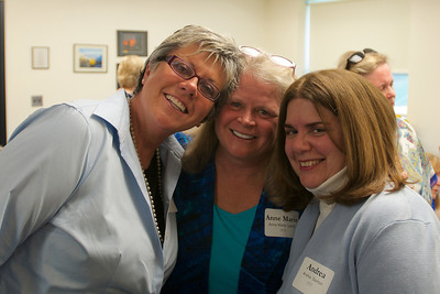 Hingham, MA - Anne Marie Lynch, center, Andrea Stanton, right, Class of 1973.  Photo by Ryan Hutton