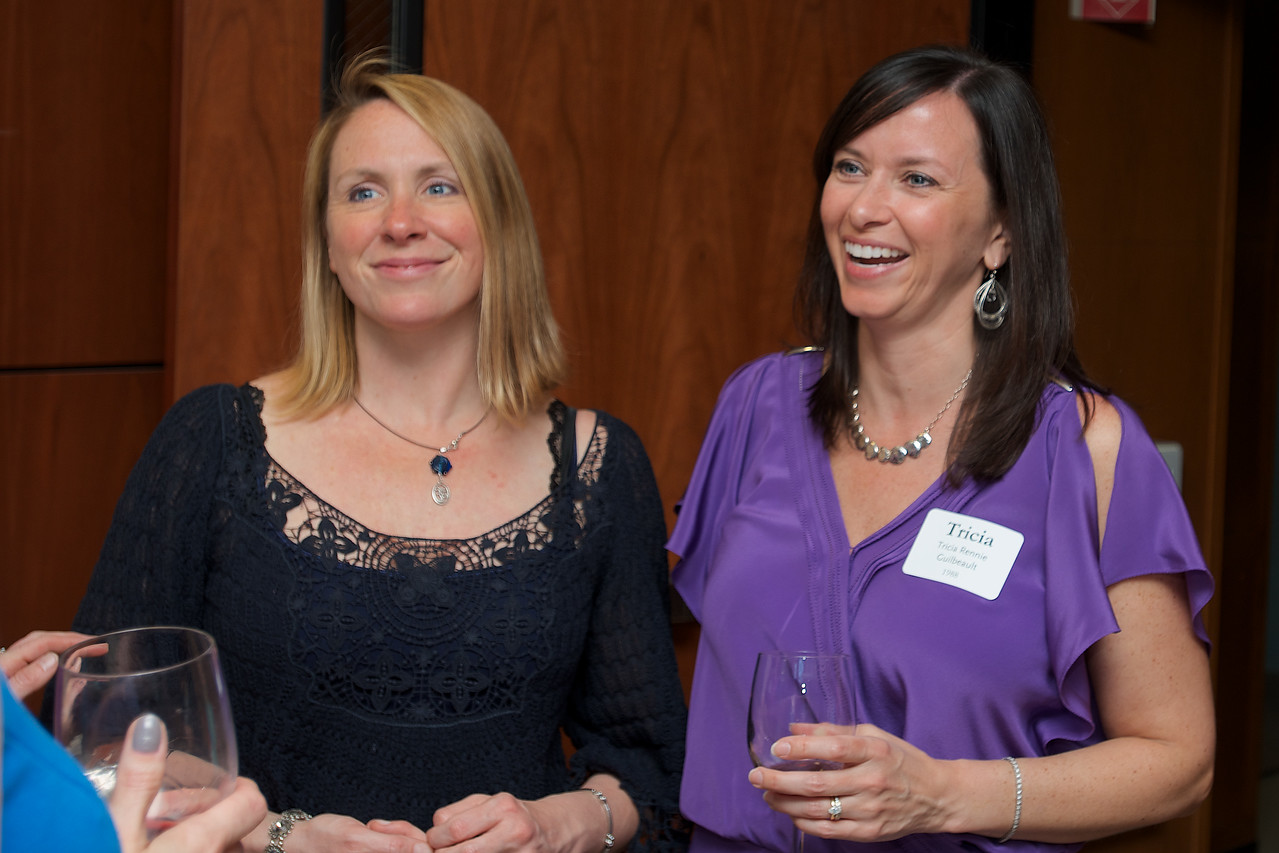 Hingham, MA - Tricia Rennie Guilbeault, right, Class of 1988.  Photo by Ryan Hutton