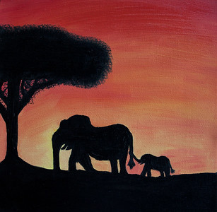 Kaleigh - Sunset Elephant