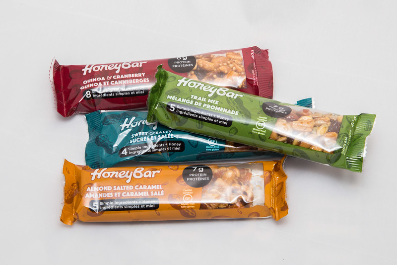 Honey Nut Bar, 40 g, $2.25 each