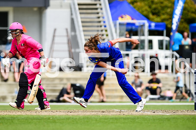 Ella Brown, Otago Sparks Vs Northern Mystics at Molyneux Park in Alexandra.  30 December 2018.  Images copyright:  Clare Toia-Bailey / www.image-central.co.nz