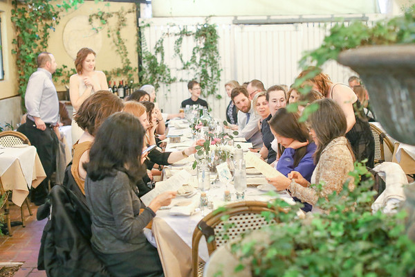 Small Wedding Reception at Buona Tavola