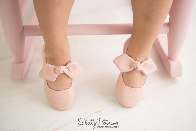 All girls deserve a pretty pair of pink shoes.