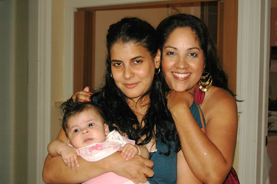My cousin Nancy with her daughter Isabella Rose and Isabella's Godmother, Rosie!