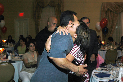 Hugging his niece...Evelys Rios.