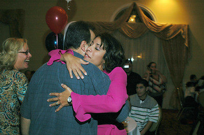 Hugging sister-in-law Ana Rios.