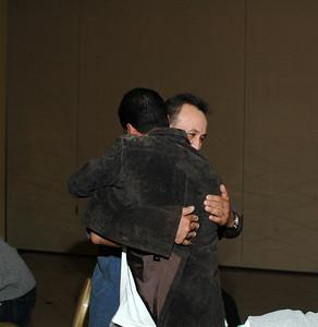 Hugging brother number 3...Edgardo Rios.