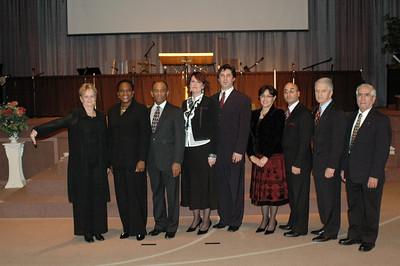 Lady Nita with Pastoral Candidates; Irose and Anthony Gordon; Lois and Davide Colletta; Aileen and David Castillo. Pastor Leonard Roberto and Pastor Raul Anduago (Missing: Bishop Terry Wiles)
