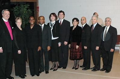 Bishop Terry Wiles, Lady Nita, Irose and Anthony Gordon, Lois and Davide Colletta, Aileen and David Castillo, Pastor Leonard Roberto and Pastor Raul Anduaga