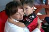 Awww...I love this pix.  David loves his grandmother, Maria