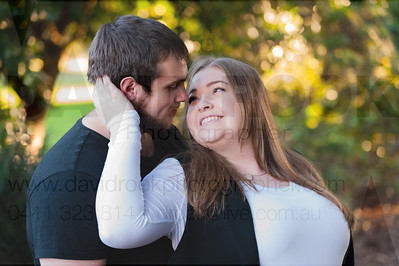 Happily Engaged Couple In Queens Park Toowoomba