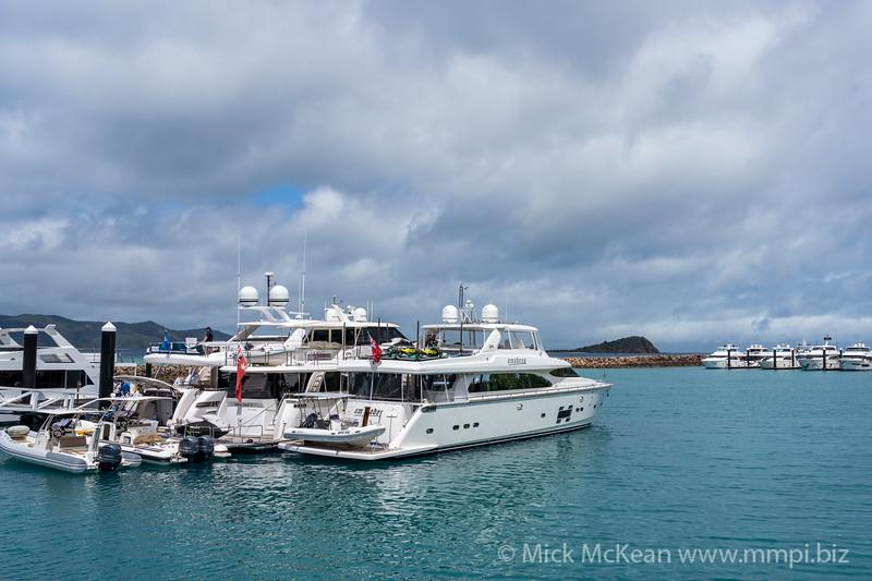 MMPI_20200908_MMCK0074_0006 - Luxury yachts moored at the marina.