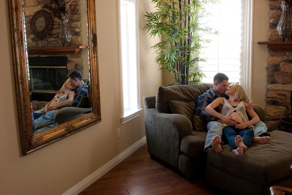 Chelsea and Ryan were an extremely fun couple to shoot. They knew Larissa Anne Photography through Chelsea's mom who came into Chick-fil-a in Corona often. They had a beautiful house in South Corona California. This beautiful house and couple made this one of my favorite shoots in Corona.