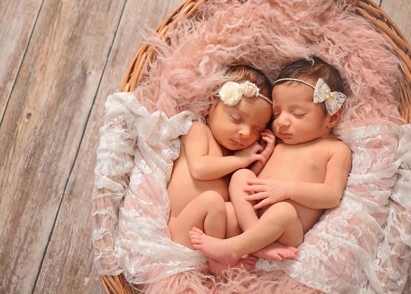 Meera & Reeva (newborn}
