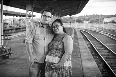 Toowoomba Engaged Couple Toowoomba Railway Station Engagment Photos