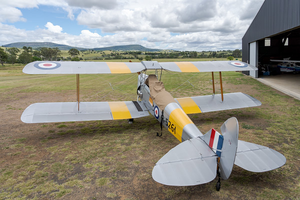 _A735868 -  De Havilland DH.82A Tiger Moth VH-WII parked at the Airsport Qld breakfast fly-in.
