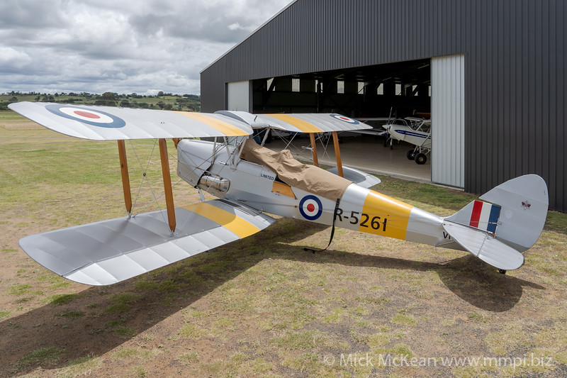 _A735883 -  De Havilland DH.82A Tiger Moth VH-WII parked at the Airsport Qld breakfast fly-in.