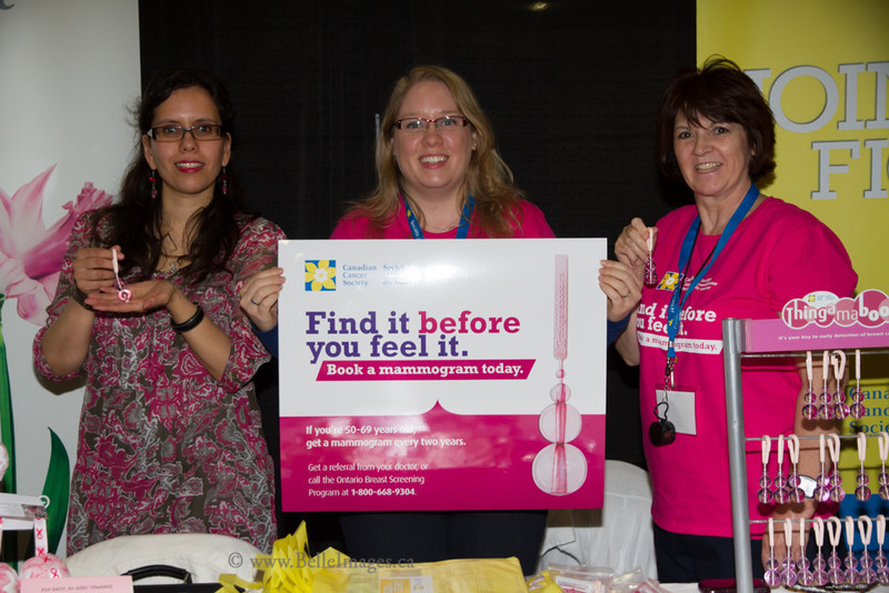 National Women's Show - Canadian Cancer Society booth