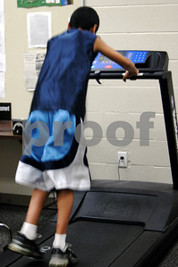 Jake on the treadmill....