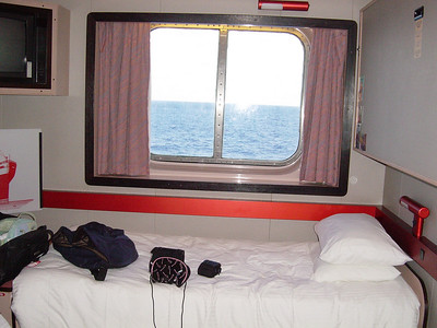 Our room (Diana and mine)!!!  (a little scary....seeing the ocean from your window)