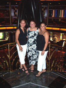 "We're the ""Black and White"" ladies.  My sis-in-law Lilly, My Bff Diana, and me."