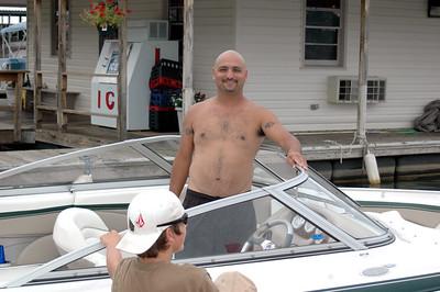 Edgar's pride and joy.....his boat!