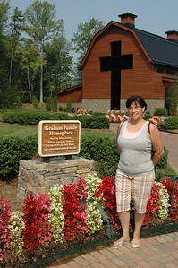 Me!  We're getting ready to tour the house where Billy Graham grew up!