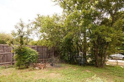 View of backyard corner from corner of house