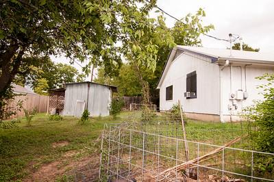 Backyard from back corner