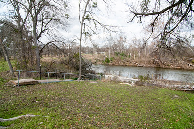 Backyard looking towards San Gabriel River and walkway