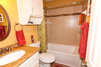 Full bathroom in between Bedroom #1 and Bedroom #2 - separate entrance, not a Jack and Jill style