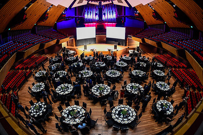 General view during the 2019 Annual ACENZ Awards of Excellence Gala Dinner at the Christchurch Town Hall in Christchurch, NZ, 9th August 2019.  Image: John Davidson / www.image-central.co.nz