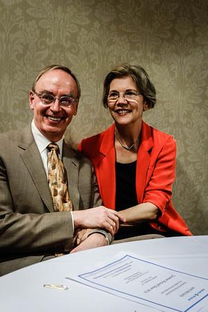 Elizabeth Warren and her husband Bruce Mann