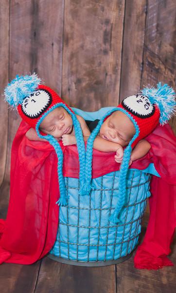 Braylen & Breyon | Newborn Twins