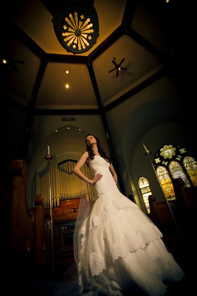 bridal wedding portrait Old Central Church Joliet IL Wedding Photographers